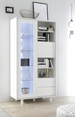 The New Ancona large Display and Storage Cabinet is now available from our Autumn collection with a tactile Matt White finish.