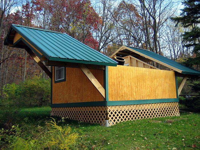 Split Roof Design: Shane Larson's Split Roll-off Roof, Low Southwest Wall
