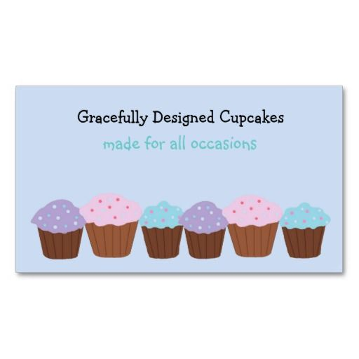40 best baking themed business cards images on pinterest bakery cupcakes business card template cupcakes baking business reheart Images