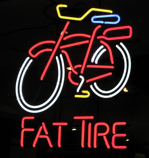Fat Tire Beer Neon Sign by Kummerle, via Flickr