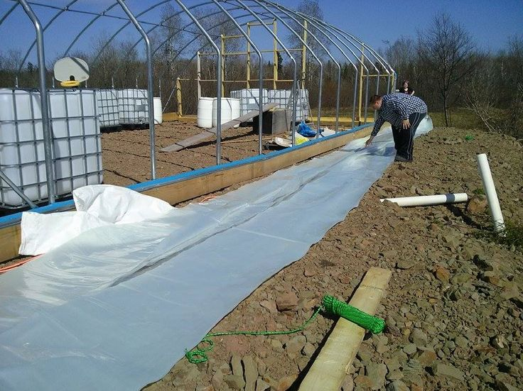 Greenhouse Plastic Covering Installation