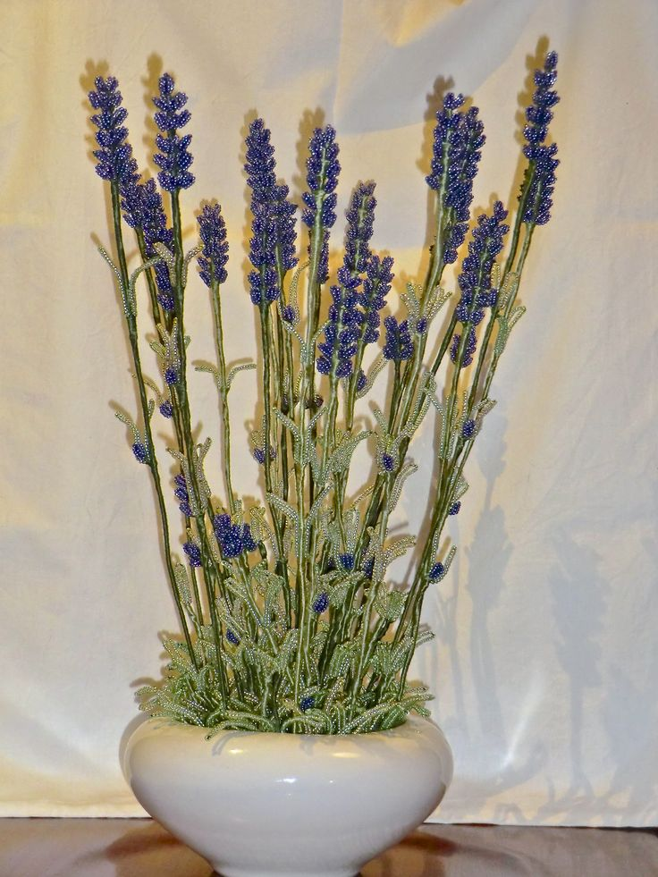 Beads made lavender plant