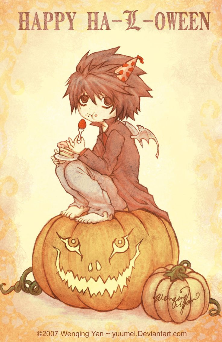 Happy Halloween Chibi Anime Death Note Pic