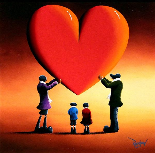 'Family Portrait' original oil painting by David Renshaw.  Available at wyecliffe.com http://wyecliffe.com/collections/david-renshaw-original-art/products/family-portrait-david-renshaw
