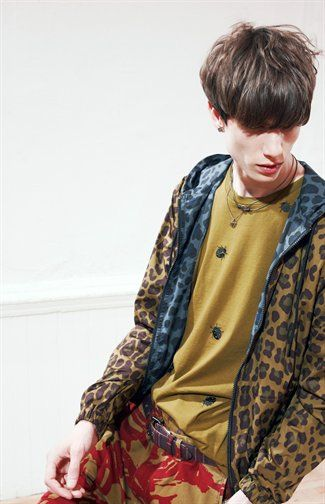 Mixed patterns with a touch of grunge at Marc by Marc Jacob - Men's Resort 2014