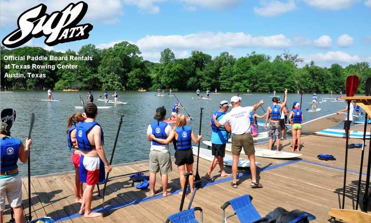 Feeling adventurous?  Try stand up paddle boarding--rent one from SUP ATX Stand Up Paddle Board Rentals