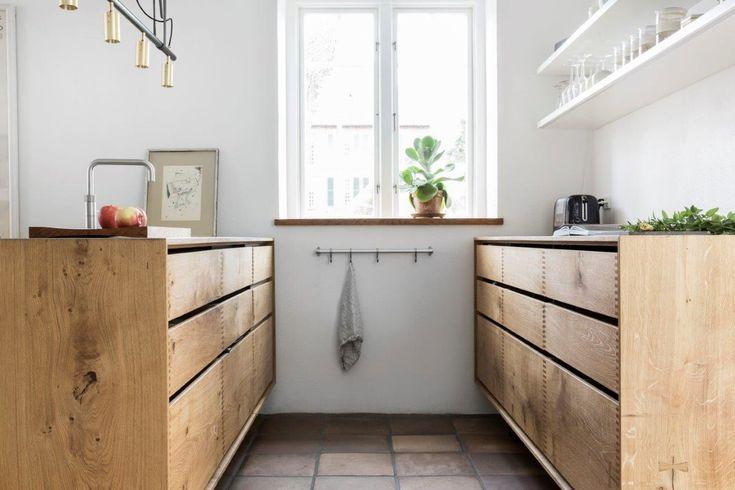 Image result for oak handleless kitchens
