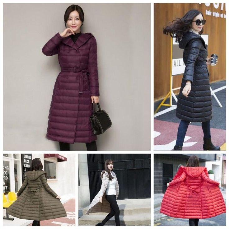 Women 's Winter Down Jacket 90% Duck Down Jacket Long Coat Coat