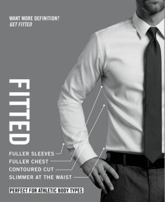 eea8fb9f Tommy Hilfiger Men's Athletic Fit Performance Flex Non-Iron Fineline Stripe  Dress Shirt - Blue 15.5 34/35