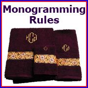 Embroidery Library Projects - Monogramming Rules - Who doesn't love a good monogram?  Here's how to make sure it's placed and done correctly.