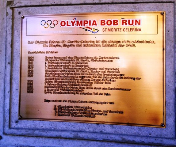 Olympic Bob Run Winners plaque - St Moritz  #bobsleigh #sport #winter #olympics #switzerland