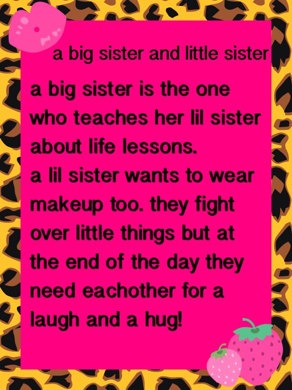 Big Sister Little Sister Quotes. QuotesGram