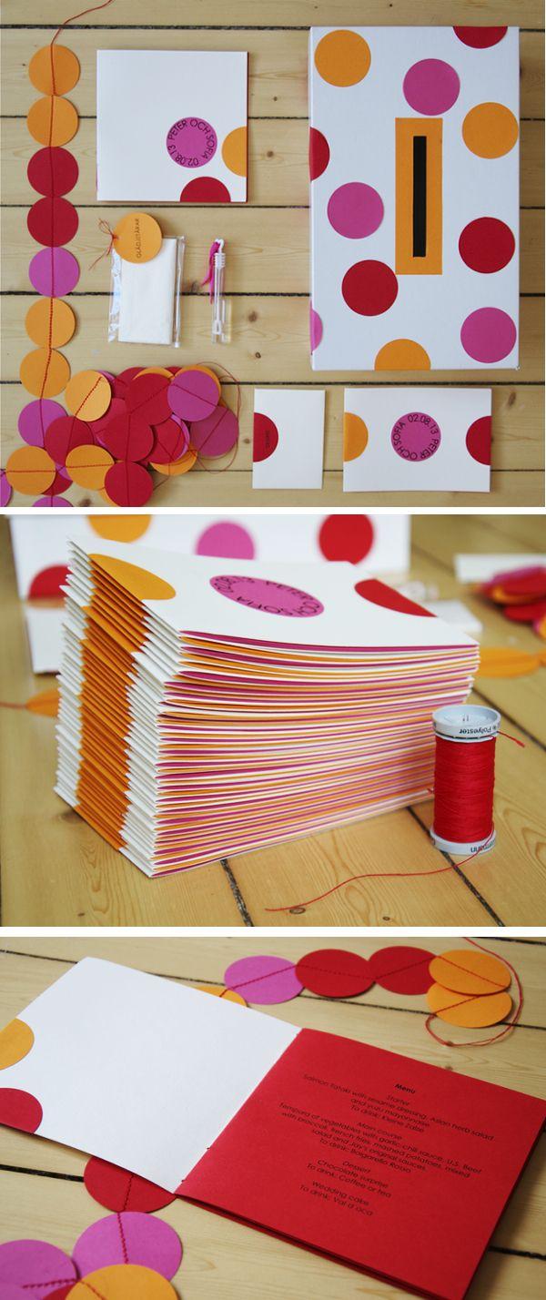 My DIY wedding programs and stationary. By Kreativ inredning