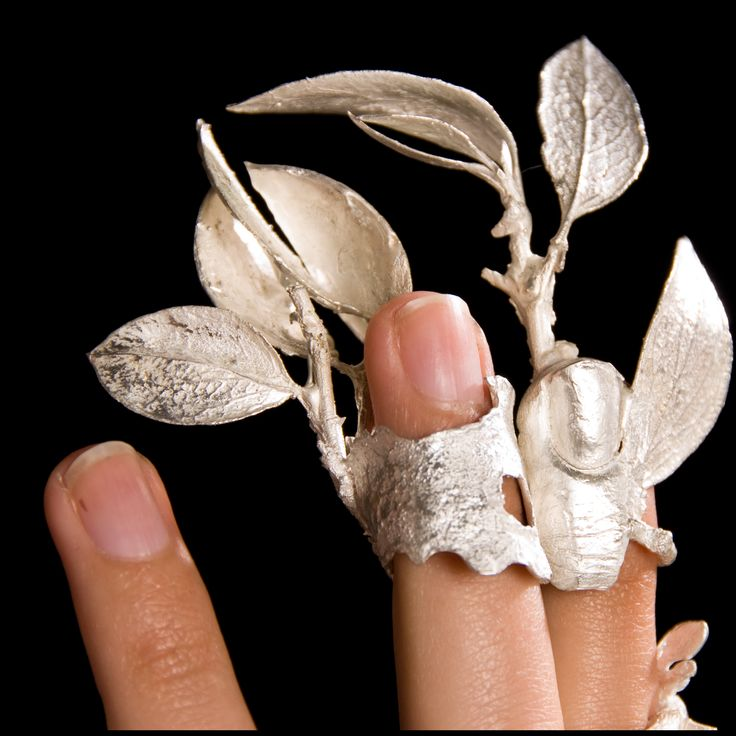 """KATHLEEN CARRICABURU-USA - fingertip rings """"My jewelry translates through the art of my craft a lifetime love of the natural world and its nuances into artisan jewelry referencing the beauty of nature , through the lenses of culture and history"""""""
