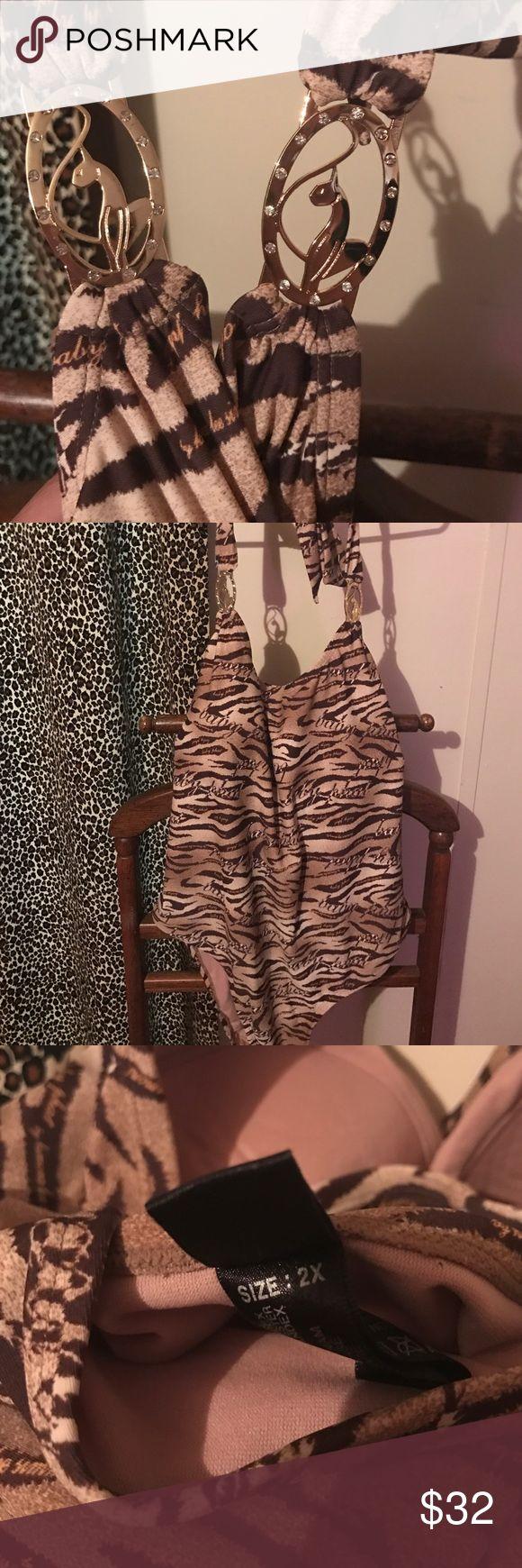 Baby phat Swim suit Baby phat one piece swim suit with gold metal baby phat . baby phat Swim One Pieces