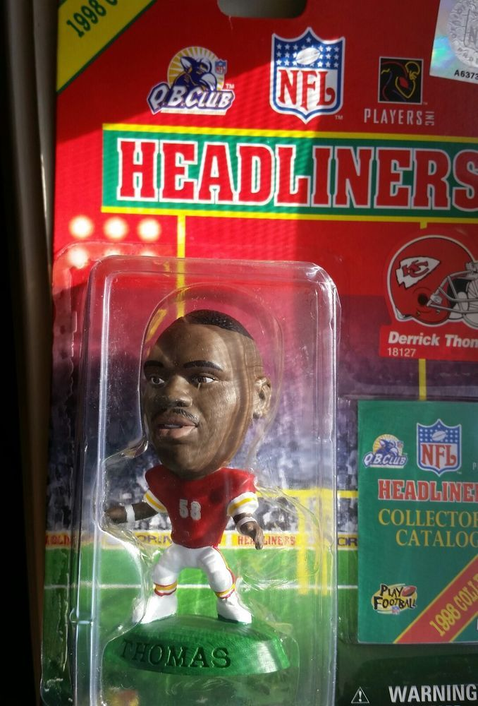 "DERRICK THOMAS KANSAS CITY 3"" 1998 NFL Headliners Football Collectible Figure #Corinthian"