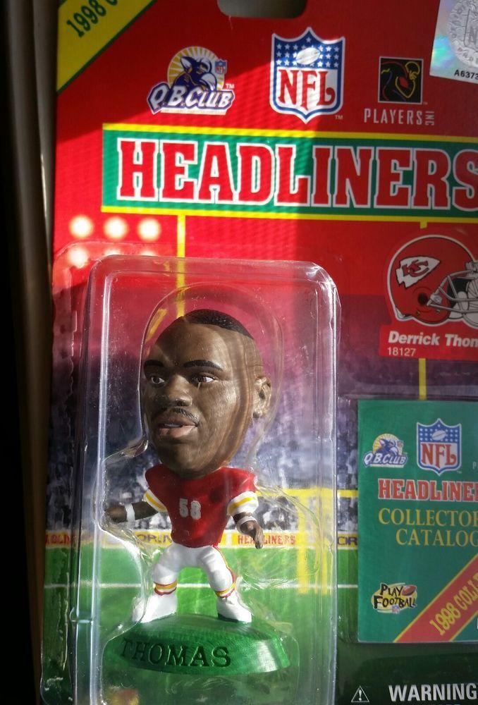 "DERRICK THOMAS KANSAS CITY 3"" 1998 NFL Headliners Football Collectible Figure #Corinthian"