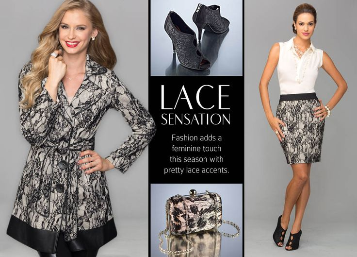 Lace Sensation Fashion Adds A Feminine Touch This Season With Nude And Black Pretty Lace