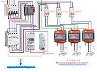 Esquemas eléctricos: Encendido y apagado de focos piscina con manual /a...