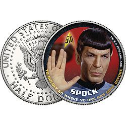 Star Trek Spock 50th Anniversary Collectible Coin: Sometimes with confidence and sometimes with trepidation, he took us into the far…