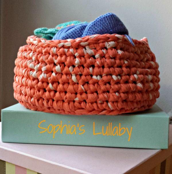#crochetbasket #tshirtyarn #handmade #sophiaslullaby #summercrochet