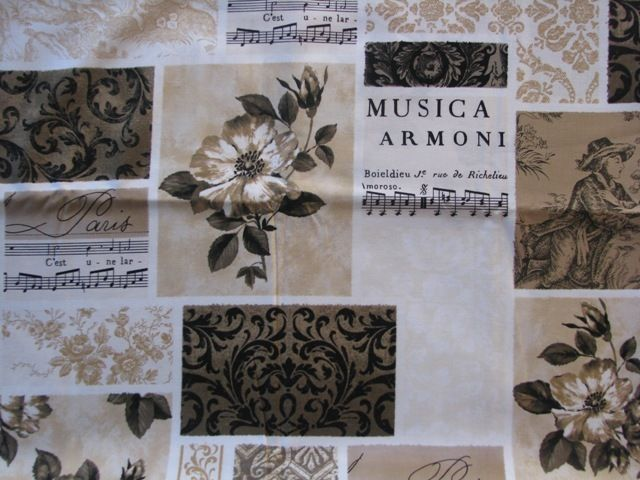 Franny Annies your online fabric store - French Botanica, Musica Fat Quarter, $6.00 (http://www.frannyannies.co.nz/french-botanica-musica-fat-quarter/)