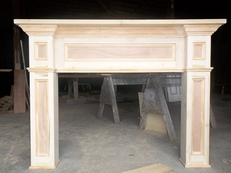 custom fireplace mantels and surrounds | Custom Made Paint- Grade Fireplace Mantel Surround