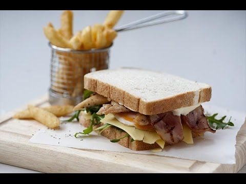 Club Sandwich - Goodman Fielder Food Service Recipes - YouTube