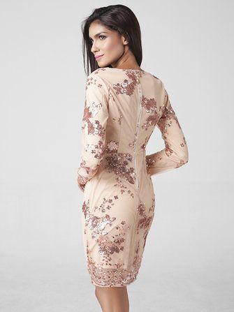 Lztlylzt Women Sexy Sequins V-neck Long Sleeve Patchwork Mini Dress at Banggood