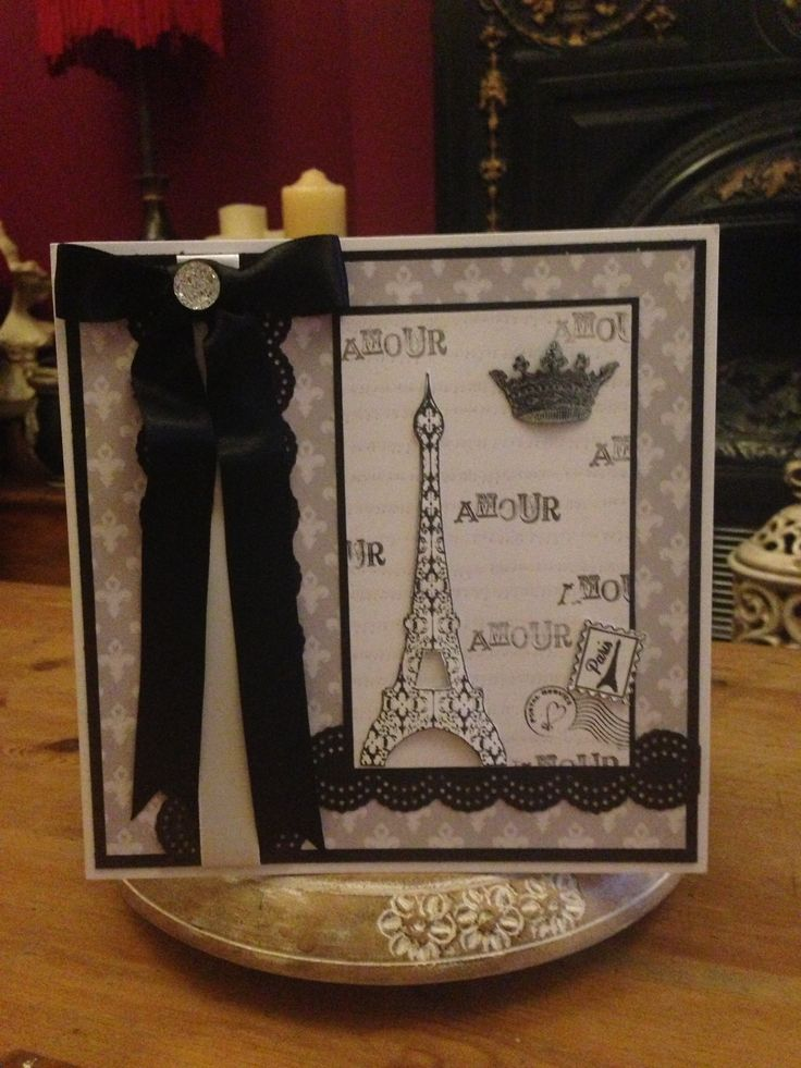 My design using Dreamees Paris stamp and Paris cd...