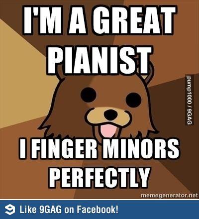 Pedo bear plays piano