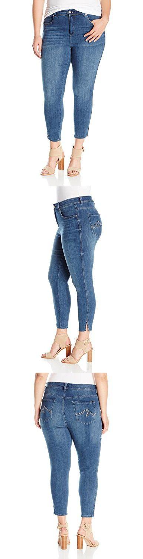 Melissa McCarthy Seven7 Women's Plus Size Skinny Jean, Blaze, 24W