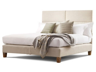 The launch of our new line of custom beds for Savoir begins in Robert Passal's room at Hampton Show House