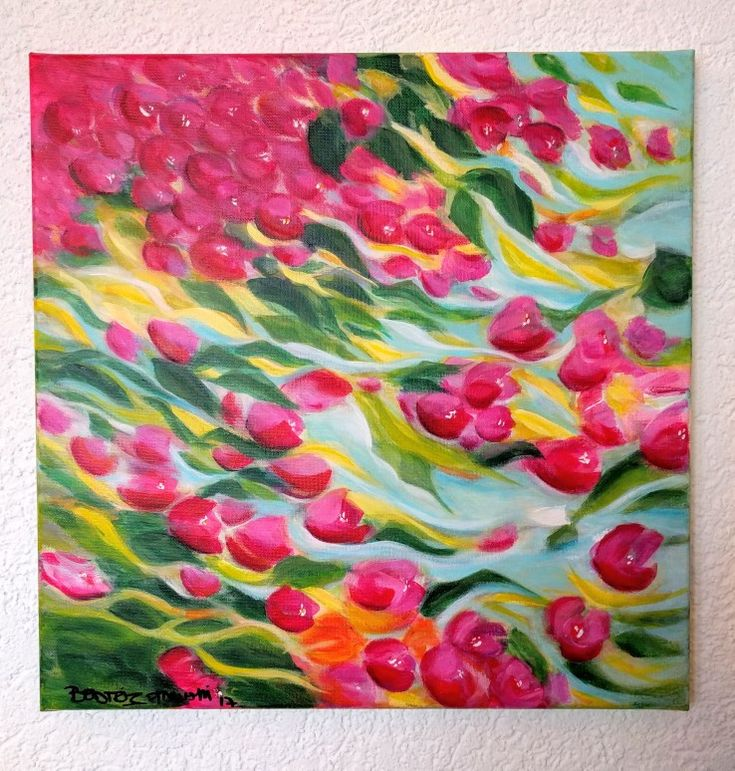 Oil 40*40 cm Bugambilias. #beatrizstawiskicardenas @paintings.beatriz.stawiski