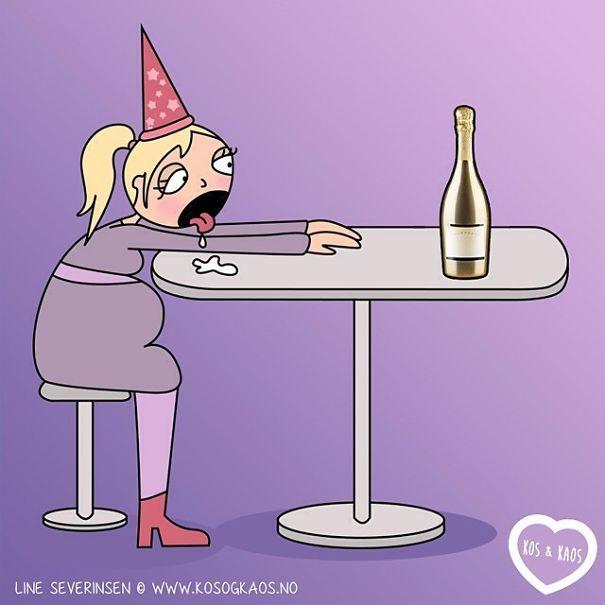 ilustración mujer embarazada con botella de alcohol