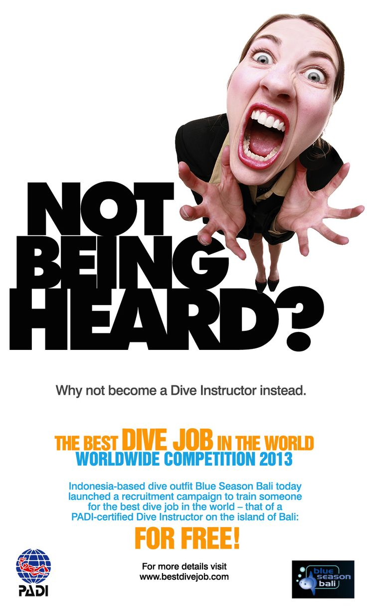 Best free poster design software - Poster Design Self Promotion For Best Dive Job 2012 Worldwide Competition Work Done Concept