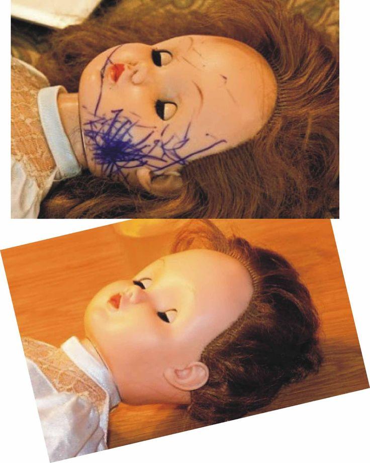 Ana Caldatto : Dica da Ana como remover manchas de tinta de uma boneca de Borracha