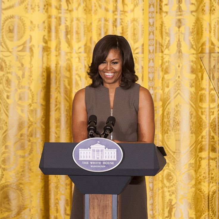 Michelle Obama hasn't always lived in the White House. But listening to her speak at the White House on Tuesday, it was hard for me to imagine this famous first lady at home doing dishes in her sweat pants. But, as she told the very personal story behind her Let's Move campaign, aimed at improving