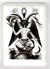 Baphomet Com Pentagrama Placa De Interruptor De Luz Capa Black Metal Death Metal Goth Horror