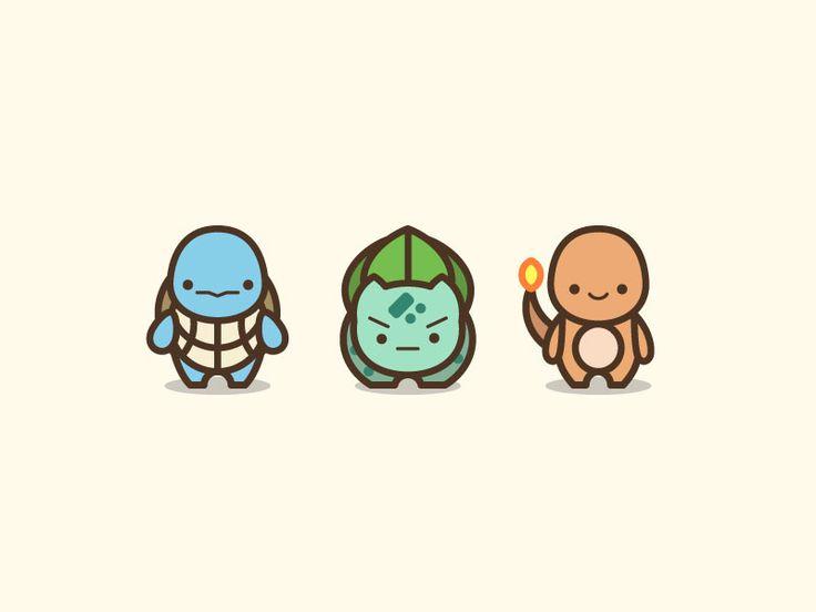 Pokemon Starters Illustration by Gerald Briones #Design Popular #Dribbble #shots