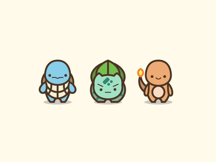 Pokemon Starters Illustration by Gerald Briones #Design Popular #Dribbble #shots