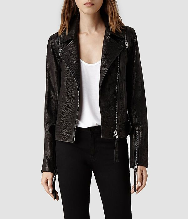 ALLSAINTS ALFORD LEATHER BIKER JACKET. One of the most unique leather jackets I've seen in a Long time. ALLSAINTS is at the top of their class with his one. Detachable Sleeves!  I swear I'm in LOVE http://www.us.allsaints.com/women/leathers/allsaints-alford-biker/?colour=5&category=25