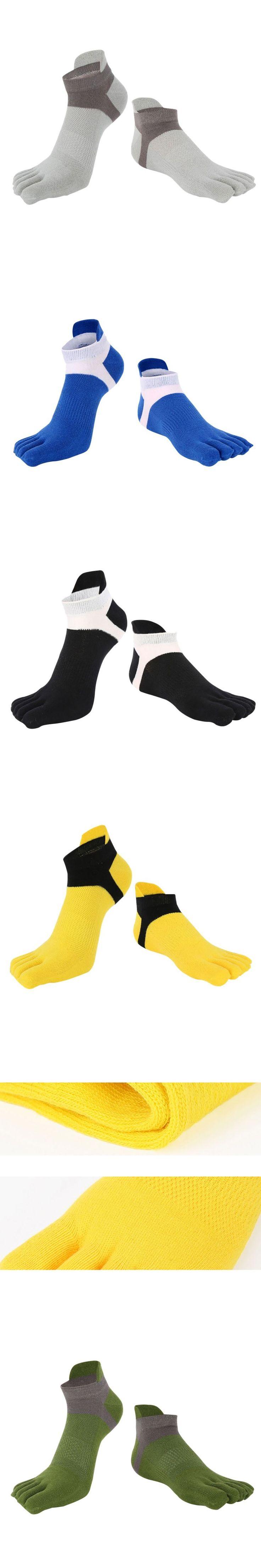 2017 New Men's Cotton Five Finger Toe Socks Deportes Short Tube Mesh Finger Meias Polyester Sock Correr Elasticity Sock M8