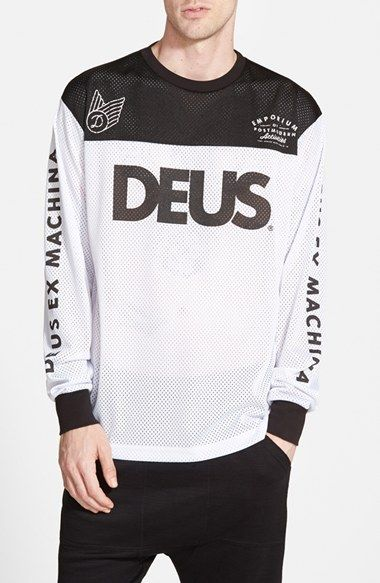 deus ex machina 39 moto x 6 39 long sleeve mesh jersey available at nordstrom urbano pinterest. Black Bedroom Furniture Sets. Home Design Ideas