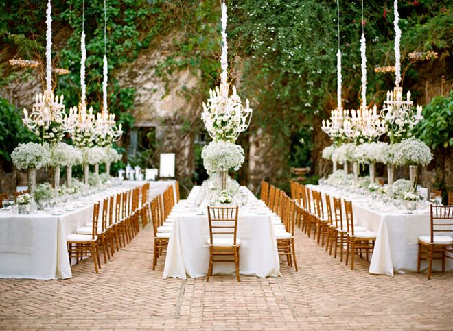 chandilier outdoor wedding party!