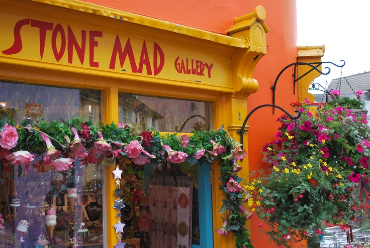 The Stone Mad Gallery in Kinsale, Ireland.  The colors in town are cool!