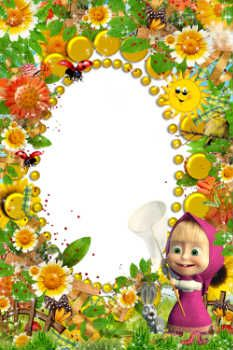 free photo frames online category masha and bear
