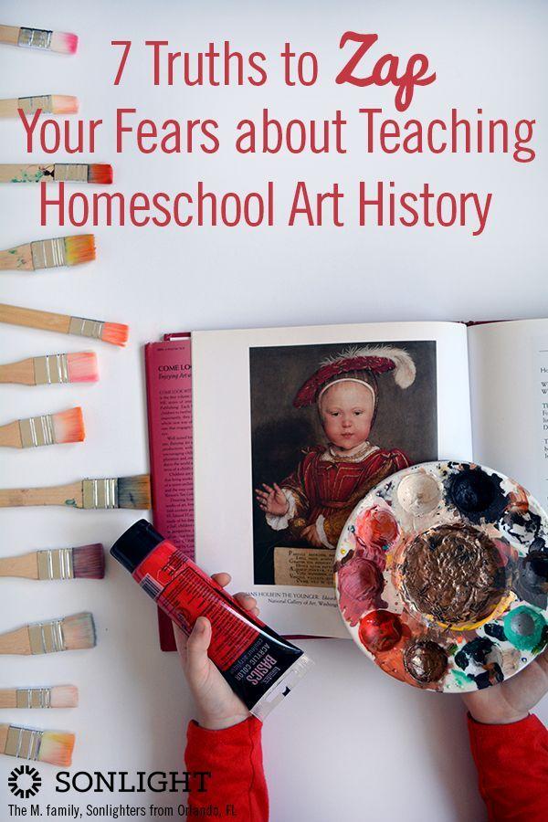 7 Truths to Zap Your Fears about Teaching Homeschool Art History • #homeschooling art