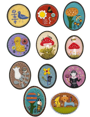 Felt Pins :) by Elsita (Elsa Mora), via Flickr