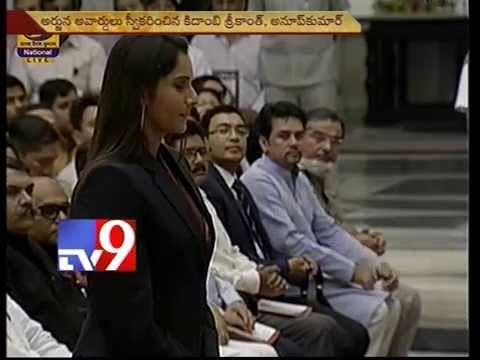 Sania Mirza receives Rajiv Gandhi Khel Ratna award in Delhi